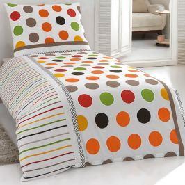 Pera pamut ágynemű, narancs, 200 x 220 cm, 2 db 70 x 90 cm