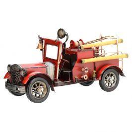 Fire truck dekorációs autó modell, piros