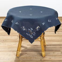 Forbyt Karácsonyi fagyöngy terítő kék, 85 x 85 cm