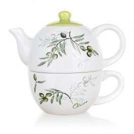 Banquet Olives kerámia teáskanna csészével