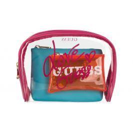Guess Paloma All In One Kozmetikai táska Kék Rózsaszín Narancssárga