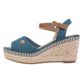 Tom Tailor Telitalpú cipő Kék Bézs