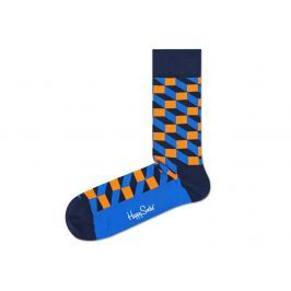 Happy Socks Filled Optic 2008 Zokni Kék Narancssárga