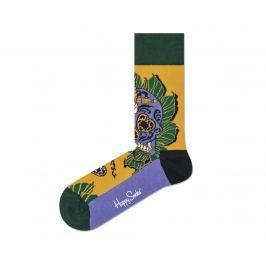 Happy Socks Sword Skull Zokni Zöld Sárga Lila