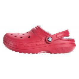 Crocs Classic Fuzz Lined Clog Crocs Piros