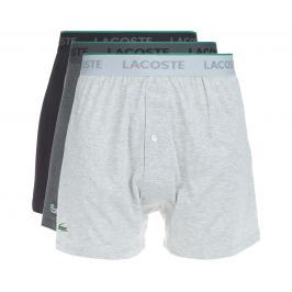 Lacoste 3 db-os Bő szárú boxeralsó szett Szürke