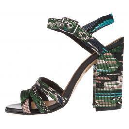 Carmens Gladiolus Back 3 Magassarkú cipő Fekete Zöld