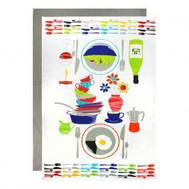 MÜkitchen Nagyméretű konyharuha, 2 db, konyhacikkes motívummal