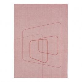 ZONE DRY ART konyharuha, squares siena red