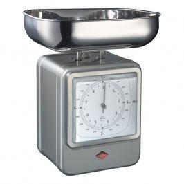 Wesco Konyhai mérleg órával, ezüstszürke