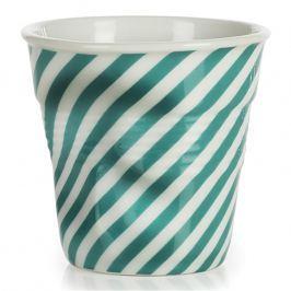 REVOL Froissés espresso pohár, 8 cl, zöld berlingot-csíkokkal