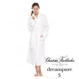 Christian Fischbacher Dreampure fürdőköpeny, sálgalléros, fehér, S-es, Fischbacher