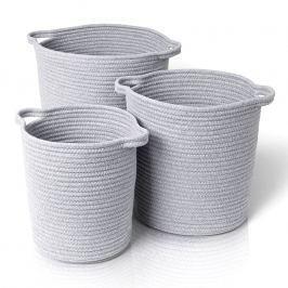 Blomus Boa pamutkosár készlet, 3 darab, szürke