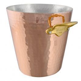 MAUVIEL Kovácsolt réz pezsgőhűtő, bronz fülekkel, Ø 20 cm
