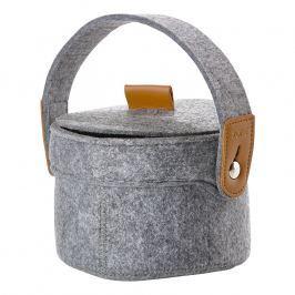 ZONE CRAFT kisméretű tárolókosár, füllel, grey