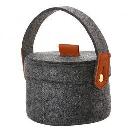 ZONE CRAFT kisméretű tárolókosár, füllel, dark grey