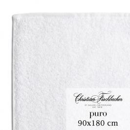 Christian Fischbacher Puro fürdőtörölköző, 90 x 180 cm, fehér, Fischbacher