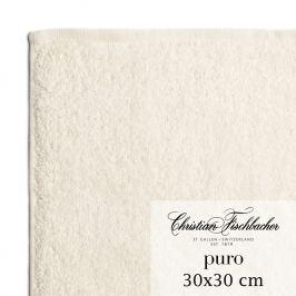Christian Fischbacher Puro kéztörlő / arctörlő törölköző, 30 x 30 cm, gyöngyfehér, Fischbacher