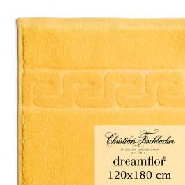 Christian Fischbacher Dreamflor® nagyméretű fürdőtörölköző, 120 x 180 cm, sárga, Fischbacher