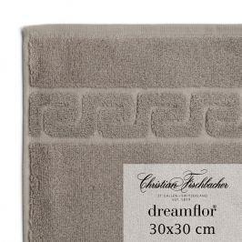 Christian Fischbacher Dreamflor® kéztörlő / arctörlő törölköző, 30 x 30 cm, szürkésbarna, Fischbacher