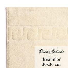 Christian Fischbacher Dreamflor® kéztörlő / arctörlő törölköző, 30 x 30 cm, elefántcsontfehér, Fischbacher