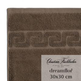 Christian Fischbacher Dreamflor® kéztörlő / arctörlő törölköző, 30 x 30 cm, barna, Fischbacher