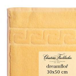 Christian Fischbacher Dreamflor® vendégtörölköző, 30 x 50 cm, vaníliasárga, Fischbacher