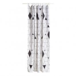 ZONE HARLEQUIN zuhanyfüggöny, 180 × 200 cm, black