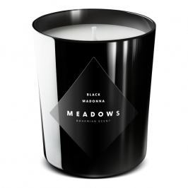 Meadows Black Madonna illatgyertya, medium, fekete