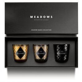 Meadows Shadow Dance illatgyertyakészlet díszdobozban, 3 részes, mini