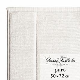 Christian Fischbacher Puro fürdőszobaszőnyeg, 50 x 72 cm, krétafehér, Fischbacher