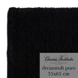 Christian Fischbacher Dreamtuft Puro fürdőszobaszőnyeg, 55 x 65 cm, fekete, Fischbacher