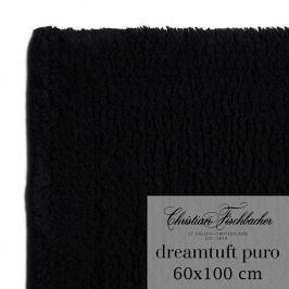 Christian Fischbacher Dreamtuft Puro fürdőszobaszőnyeg, 60 x 100 cm, fekete, Fischbacher