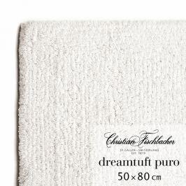Christian Fischbacher Dreamtuft Puro fürdőszobaszőnyeg, 50 x 80 cm, krétafehér, Fischbacher