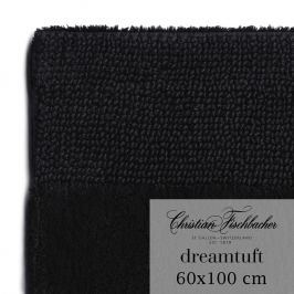 Christian Fischbacher Dreamtuft fürdőszobaszőnyeg, 60 x 100 cm, fekete, Fischbacher