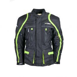 W-TEC NF-2205 S - fekete-zöld Férfi hosszú szövet motoros kabátok