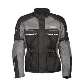 W-TEC Cronus (M/2322) S - fekete-szürke Férfi hosszú szövet motoros kabátok