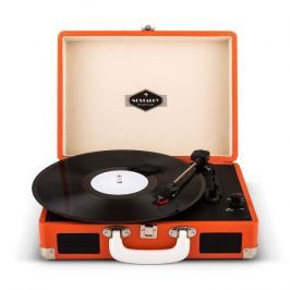 Auna Peggy Sue Retro Suitcase Turntable LP USB Orange