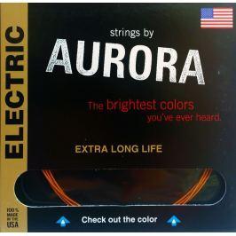 Aurora Premium Electric Guitar Strings Light 09-42 Red