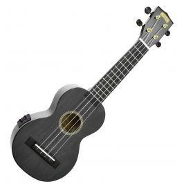 Mahalo Electric-Acoustic Soprano Ukulele Transparent Black