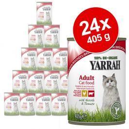 Yarrah bio-falatkák gazdaságos csomag 24 x 405 g - Csirke, marha, csalán & paradicsom