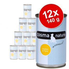 Cosma Nature gazdaságos csomag 12 x 140 g - Csirke & sajt