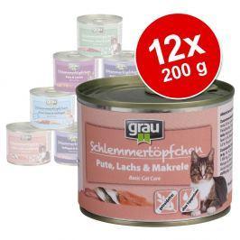 Grau ínyenctál vegyes csomag 12 x 200 g - Gabonamentes: pulyka & bárány