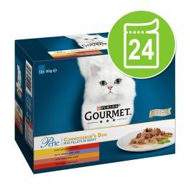 48x85g Gourmet Perle nedves macskatáp - finom hús-duó
