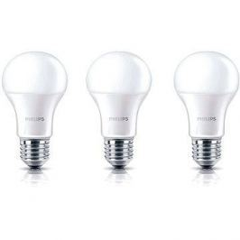 Philips LED 8-60W, E27, 2700K, matná, set 3ks