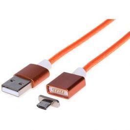 PremiumCord USB 2.0 propojovací magnetický A-B micro 1m oranžový