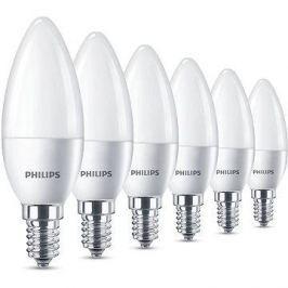 Philips LED Svíčka 5.5-40W, E14, 2700K, matná, set 6ks
