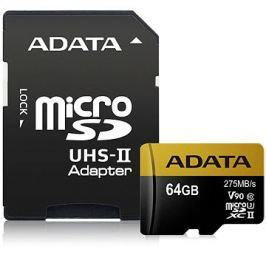 ADATA Premier ONE MicroSDXC 64GB UHS-II U3 Class 10 + SD adaptér