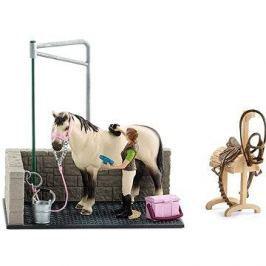 Schleich 42104 Mycí kout pro koně s příslušenstvím