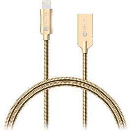 CONNECT IT Wirez Steel Knight Lightning Apple 1m, metallic gold